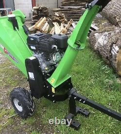 15hp Petrol Wood Chipper 420cc Briggs & Stratton Engine 120mm Max Capacity