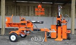 2021 Venom 22ton Petrol Hydraulic Log Splitter With Table By Rock Machinery