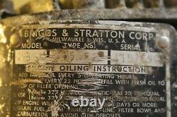 Antique Kick Start Briggs & Stratton Type WMB Model 95581 Gasoline Engine