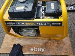 Briggs & Stratton Petrol Generator, very good condition, Promax 7500 EA