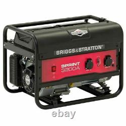 Briggs & Stratton Sprint 3200A 3.1kw Portable Petrol Generator AVR Framed