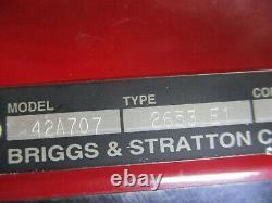 Craftsman Briggs & Stratton 17hp Good Running Engine Motor 42a707