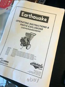 Earthquake Chipper/Shredder with Briggs & Stratton 800 Intek engine