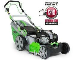Florabest Petrol Lawnmower FBME A1 Briggs & Stratton 10.8v battery 150cc 60L cap