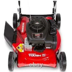 Hand Push Lawn Mower Cutter 20 In. Side Discharge with Briggs And Stratton Engine