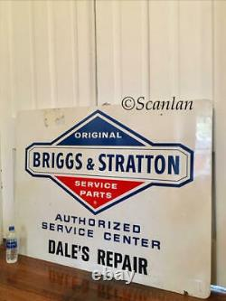 Huge Service Vtg Briggs Stratton Motor Sign Gasoline Gas Oil Seed Feed Tractor