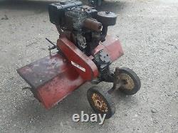 RARE ROPER ROTOTILLER ROTAVATOR WITH 8HP ENGINE mounts on a ride on lawn mower