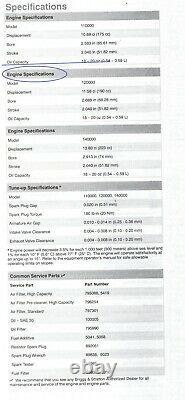 SPECIAL! Briggs & Stratton Professional Series 875 Engine 7/8 Vertical Shaft