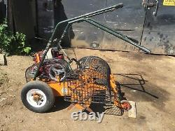 Sisis Auto Outfield Spiker Autoslit 5 HP Briggs + Stratton Engine Lawn Aerater