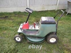 Small vintage petrol ride on Garden lawn mower, good running order
